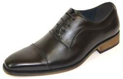 Men's Dress Shoes Cap Toe Oxford Black Color Lace Up CONNLEY