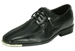 Men's Dress Shoes EXPESSIONS 4925 Black Oxfords Lace up Silv