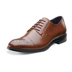 Men's Stacy Adams Dress Shoes GRANVILLE 24988 Cognac Cap Toe