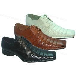 New Men's Dress Shoes Italian Style Casual Pleated Lace up F