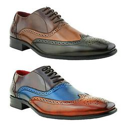 Amali Wingtip Lace Up Oxfords Perforated Leather Cap Toe Men