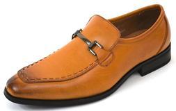 Men's Dress Shoes Moc Toe Slip On Loafers Caramel Color SUCA