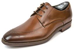 Men's Stacy Adams Dress Shoes Plain Toe Oxford Cognac Leathe