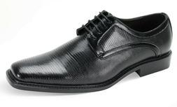 Men's Dress Shoes Plain Toe Oxford Black Wide Width ANTONIO