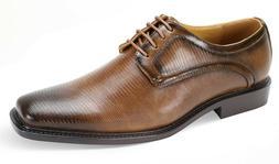 Men's Dress Shoes Plain Toe Oxford Tan Wide Width ANTONIO CE