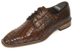 Men's Dress Shoes Plain Toe Oxford Cognac/Brown Leather STAC