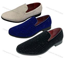 Men's Dress Shoes Rhinestone Stage Tuxedo Loafer Fashion Sli