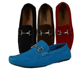 Men's Giovanni Dress Shoes Suede Loafers Casual Prom Italian