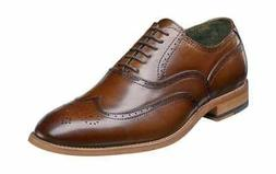 Stacy Adams Men's Dunbar Wingtip Oxford Cognac Leather Oxfor