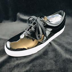 Men's Puma Eco Ortholite Black Patent Leather Fashion Sneake