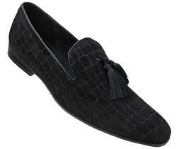 Amali Men's Exotic Velvet Loafer Slip On with Black Fabric T