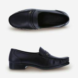 Dexter Comfort  Men's Faxon Black Slip-On Dress Shoes Wide W