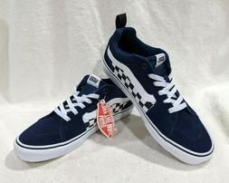 Vans Men's Filmore Checkerboard Dress Blue/White Skate Shoes