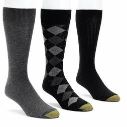 George Men's Gold Toe Solids and Argyle Dress Socks, 3-pk.G