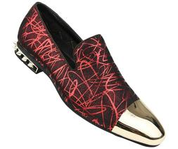 Amali Men's Graphic Patterned Smoking Slipper Loafer Dress S
