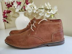Steve Madden Men's Hestonn Tan Leather Chukka Ankle Boots sz