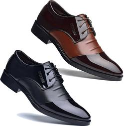 Men's Lace Up Oxfords Leather Dress Tuxedo Wedding Formal Wo