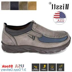 Men's Leather Casual Shoes Breathable Antiskid Loafers Slip