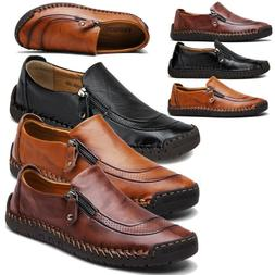 men s leather casual soft vintage dress