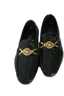 Men's Leather Dress Shoe Loafers Slip On Comfort Black Medus