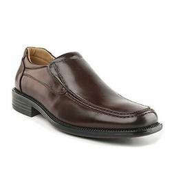 BRUNO MARC Men's Square Toe Leather Dress Slip On Loafers Ox