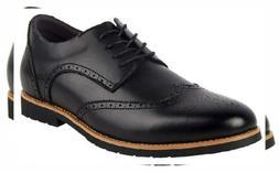 iLoveSIA Men's Faux Leather Oxford Brogue Wingtip Dress Shoe