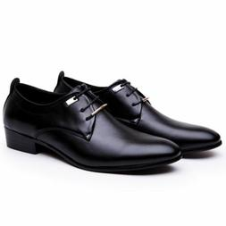 Men's Leather Shoes Formal Pointed Toe Oxfords Casual Dress