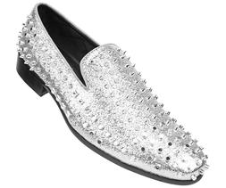 Amali Men's Lush Smoking Slipper with Spikes and Studs Loafe