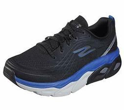 Skechers Men's Max Cushion-54440 Sneaker, Black/Blue, Size 7