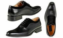 Gino Vitale Men's Medallion Toe Dress Shoes Black Size 9 Occ