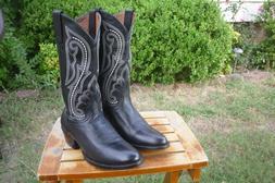 Men's New 8 D M Ariat Heritage Black Deertan Western Cowboy