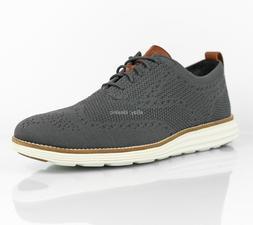 Cole Haan Men's Original Grand Stitchlite Wingtip Shoes Grey