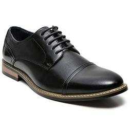 Men's Oxford Classic Cap Toe Dress Shoes Modern Lace up Leat