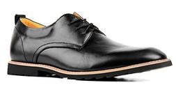 iLoveSIA Men's Oxford Fashion Leather Shoes Black US Size 10