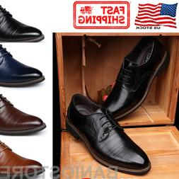 Men's Oxfords Brogue Leather Formal Casual Dress Lace up Win