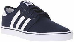 adidas Men's Seeley Skate Shoe, Collegiate Navy/White/Blue