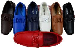 MEN'S GIOVANNI SHOE DRESS LOAFER FAUX LEATHER CASUAL SLIP-ON
