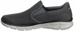 Skechers Men's Shoes Equalizer-Double Play Canvas, Charcoal/