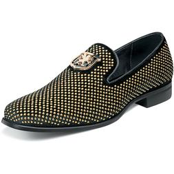 Stacy Adams Men's Shoes Swagger Studded Slip On Black and Go