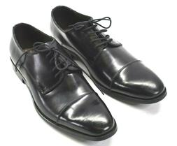 Asher Green Men's Size 10.5 Seth Black Leather Oxford Laced