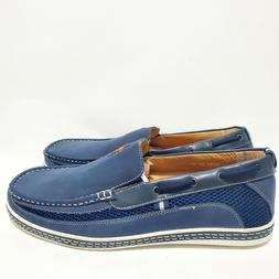 Enzo Romeo Men's Size 13 Blue Faux Leather Slip On Loafers D