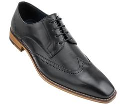 Amali Men's Smooth Wing Tip Lace Up Oxford Dress Shoe