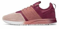 New Balance Men's Suede 247 Shoes Pink with Pink