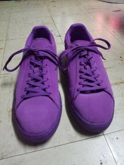PUMA Men's Suede Running/Dress Shoe/Sneaker Purple Emboss Si