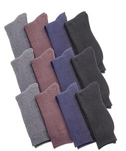 Men's Dress Socks Thin Ribbed Texture Black Soft Cotton Blen