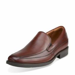 Clarks Men's Tilden Free Slip On Brown Leather Dress Shoes 2
