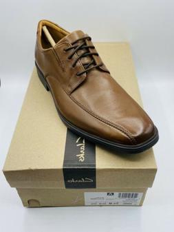Clarks Men's Tilden Walk Oxford Dark Tan Leather Size 9.5 M