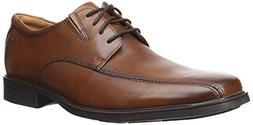 Clarks Men's Tilden Walk  Oxford, Dark Tan Leather, 9.5 M US