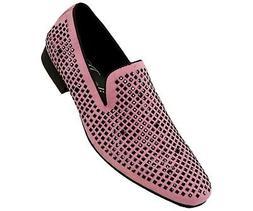 Amali Men's Velvet Embellished Smoking Slipper Loafer Dess S