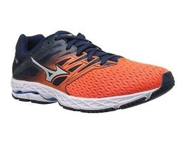 Mizuno Men's Wave Shadow 2 Running Shoes, Flame/Dress Blue,